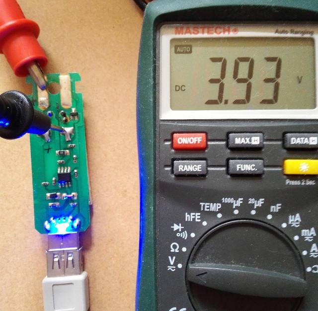充電リポ電圧