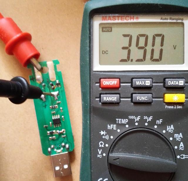 未充電リポ電圧